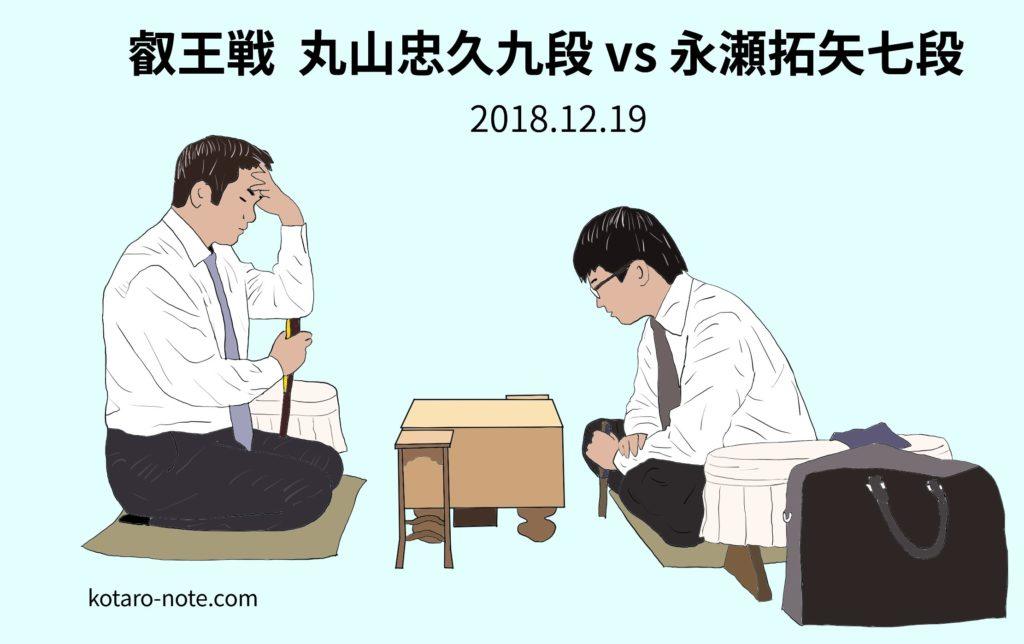 丸山忠久九段vs永瀬拓矢七段、叡王戦本戦2回戦