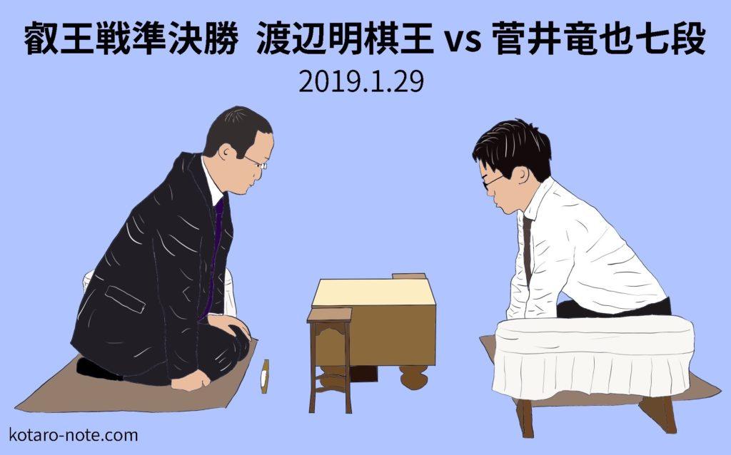 渡辺明棋王vs菅井竜也七段、叡王戦