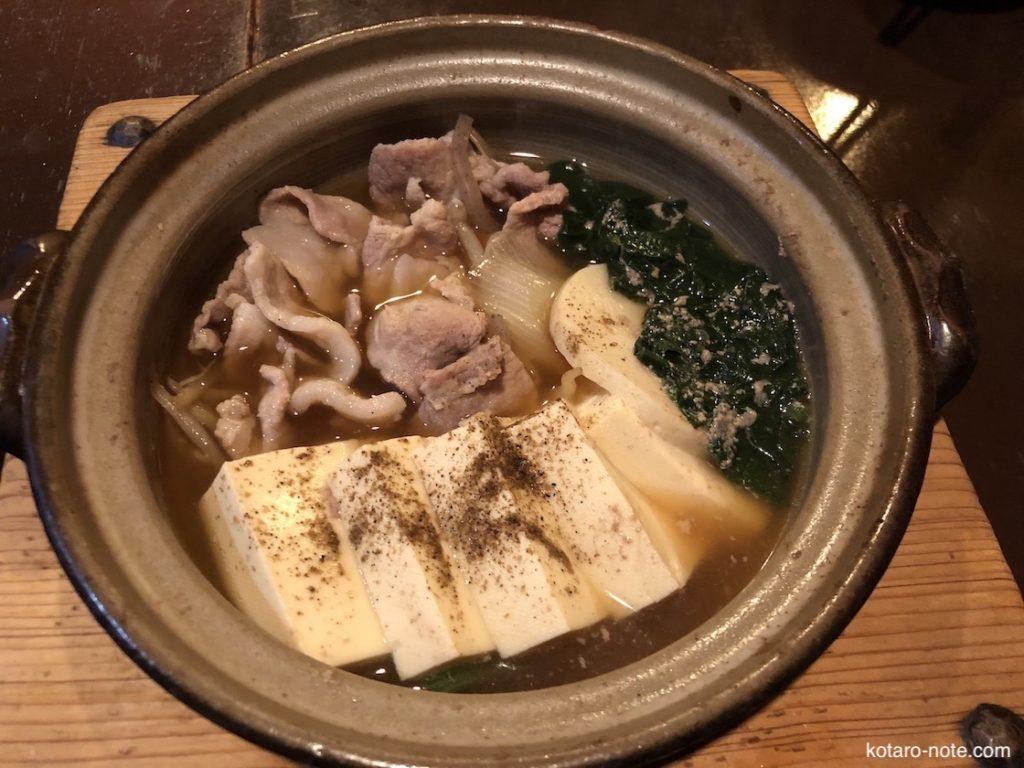 みろく庵の肉豆腐