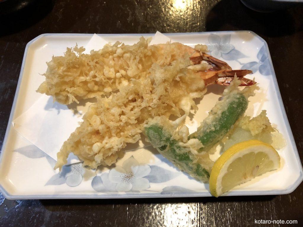 みろく庵の海老天ぷら