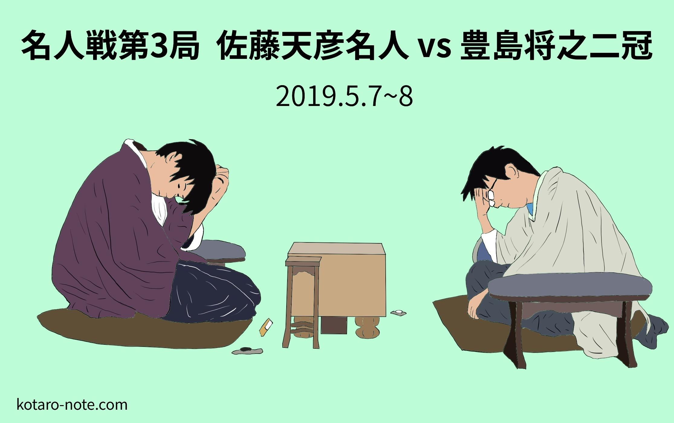 佐藤天彦名人vs豊島将之二冠、名人戦第3局