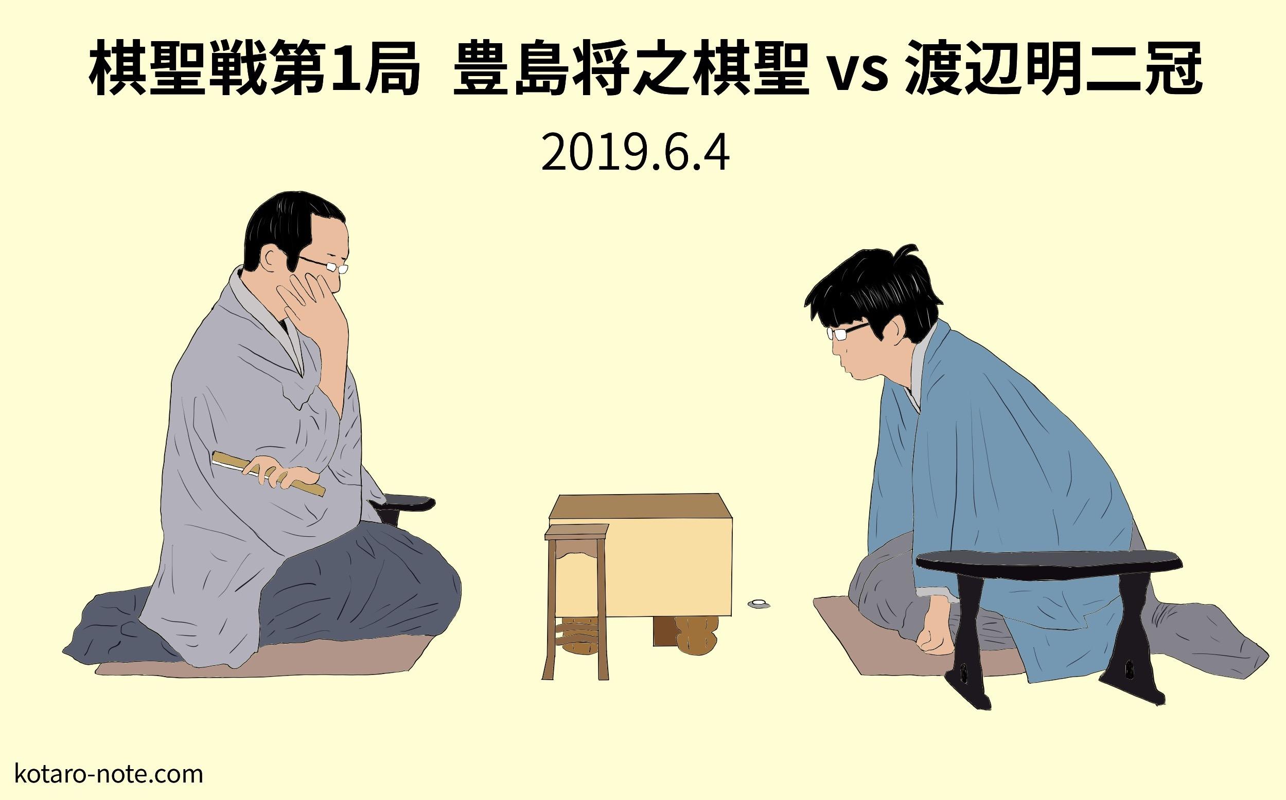豊島将之棋聖vs渡辺明二冠、棋聖戦第1局