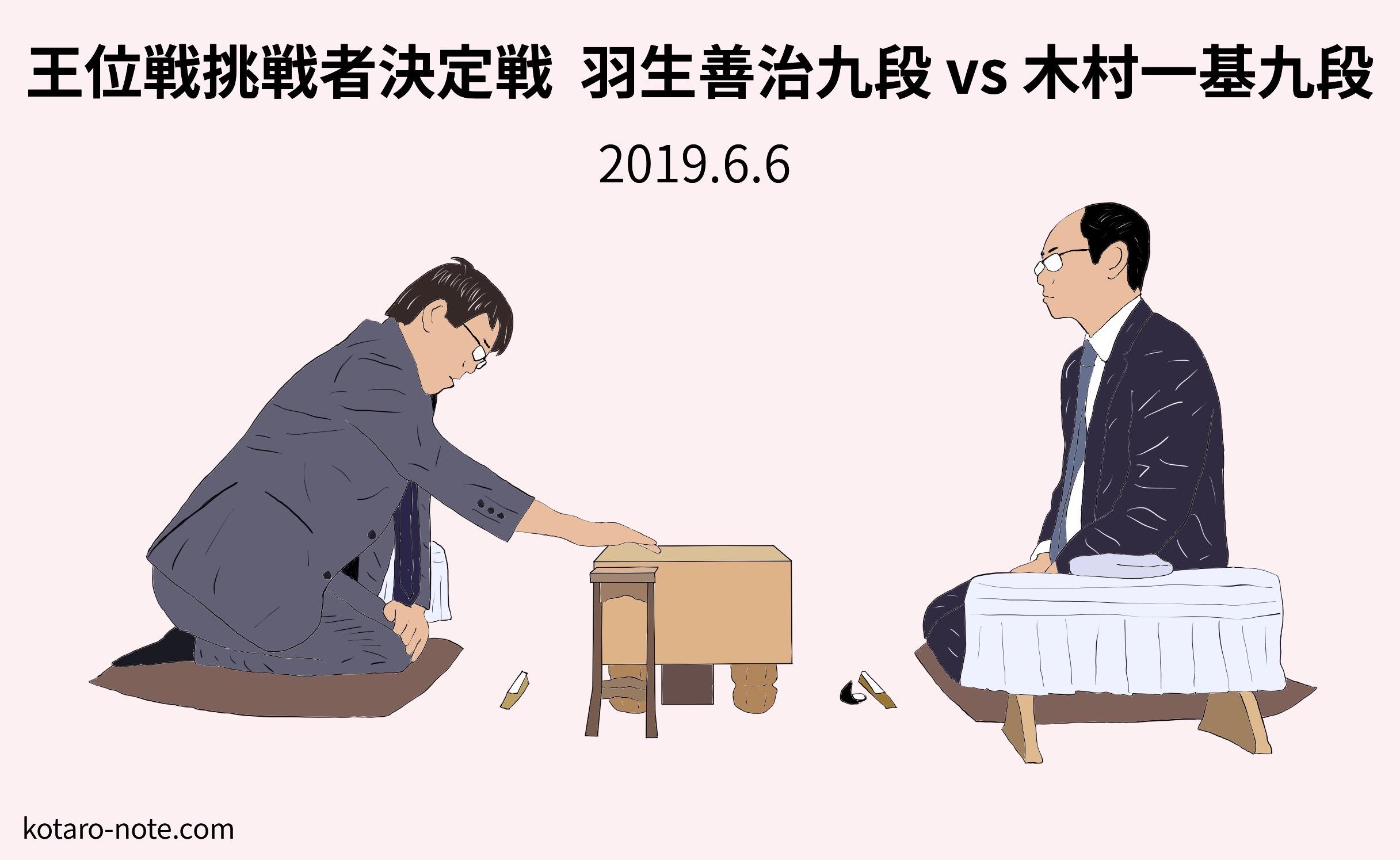 羽生善治九段vs木村一基九段、王位戦挑戦者決定戦