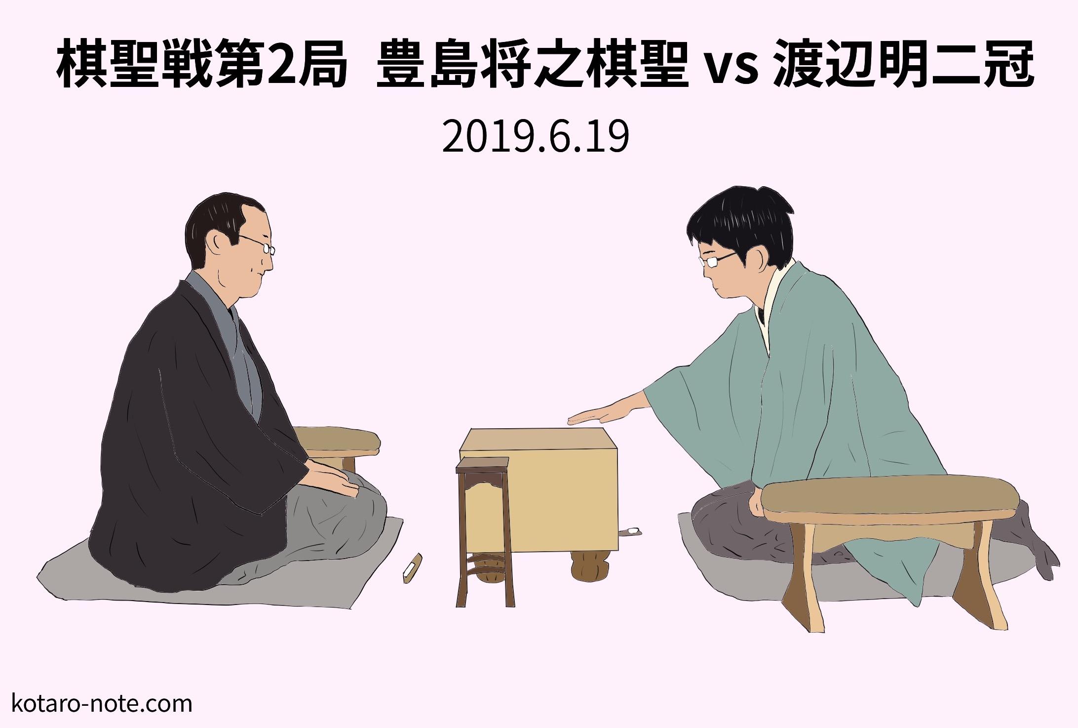 豊島将之棋聖vs渡辺明二冠、棋聖戦第2局