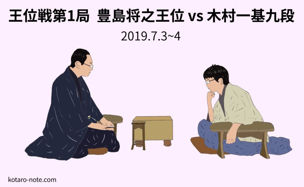 豊島将之王位vs木村一基九段、王位戦第1局
