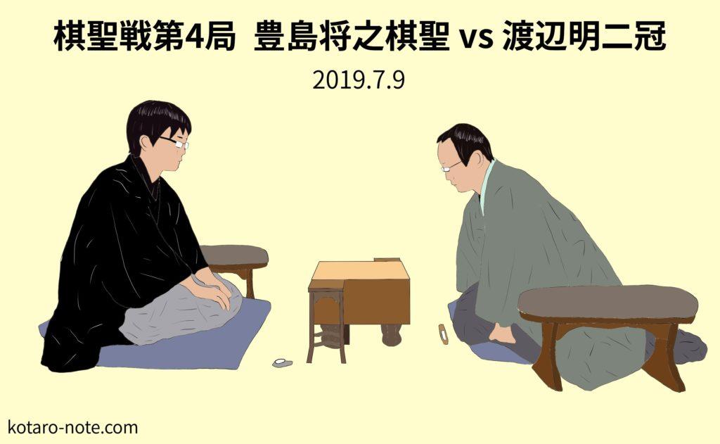 豊島将之棋聖vs渡辺明二冠、棋聖戦第4局