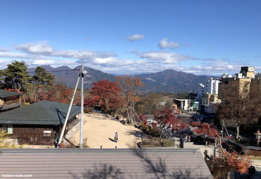 伊香保温泉から見た赤城山
