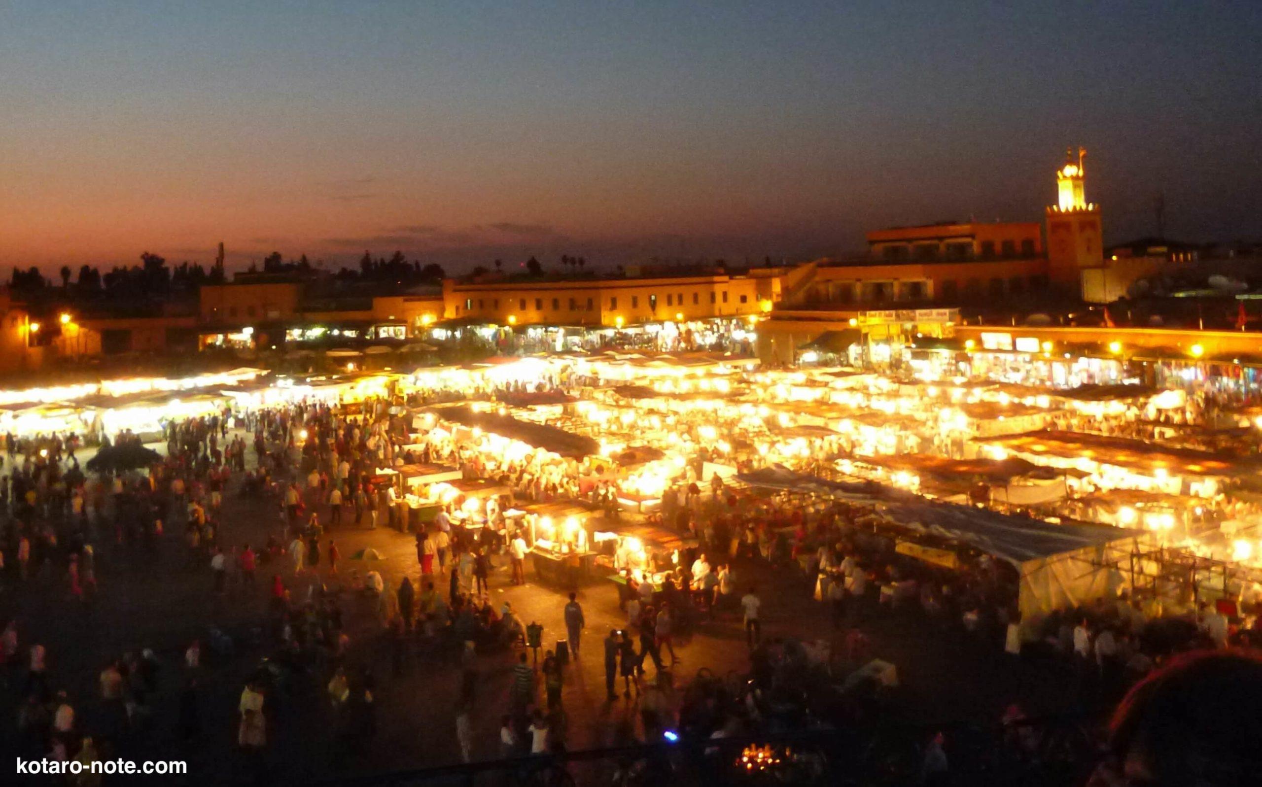 モロッコのマラケシュ